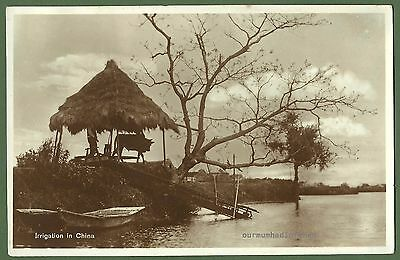 Irrigation in China Old Photo Postcard, Universal Postcard & Picture Co Shanghai