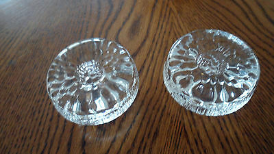 Pair of Two (2) Heavy Lead Crystal Candle Holders in Perfect Condition