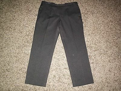 M&s Man Smart Crease Resistant Classic Fit Trousers 34 Inch Waist