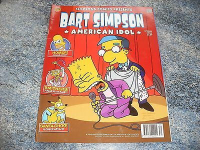 Bart Simpson Spring 2004 Comic American Idol Complete With Pull Out