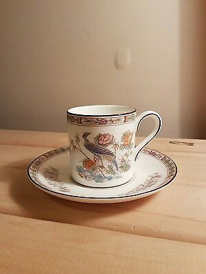 Wedgwood - Kutani Crane - Coffee Cup and Saucer - Excellent Condition