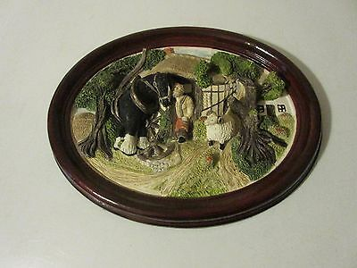 Brush Strokes 3D Wall Plaque  COUNTRY SCENE