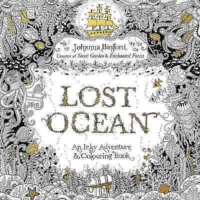 Lost Ocean: An Inky Adventure & Colouring Book by Johanna Basford (Paperback, 2…