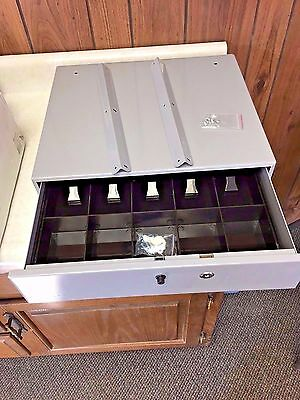 Office Depot Large-Capacity Manual Cash Drawer with Bell 407775, Locking Key New