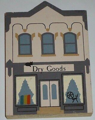 Cat's Meow DRY GOOD STORE wood building shelf sitter 1987
