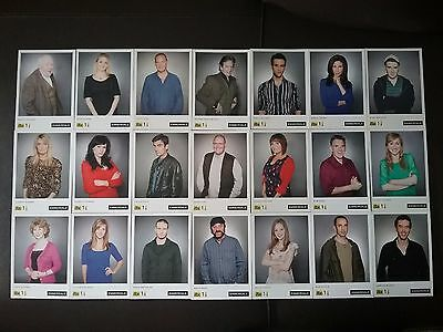 Emmerdale Rare Set Of Unsigned Cast Photos X 21 With Old Itv Logos