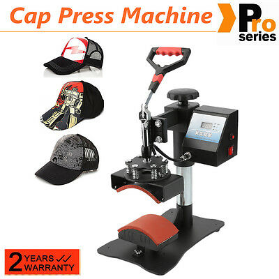"Digital Transfer Sublimation Hat Cap Clamshell Heat Press Machine 10""x8"" Curved&"