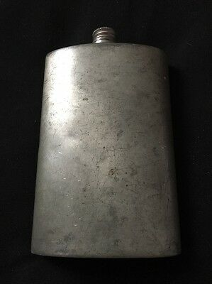 Vintage  English Pewter 10 Ounce Hip Flask - Sheffield England