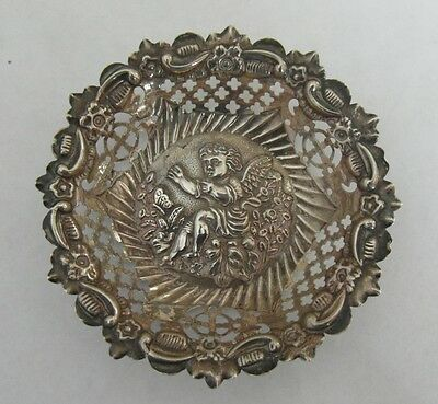 """Sweet Victorian Antique Silver Pin Tray Birmingham 1898 - 3.5"""" wide 17g"""