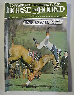 Horse and Hound Magazine. March 21, 1986. How To Fall by Richard Pitman.