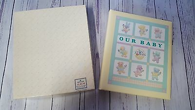 New Nib Hallmark Baby Album Record Book Lullaby Quilt Boy Or Girl Our Baby