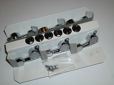 GOTOH SG381 Chrome R/H machine heads set of 6 in line -  Ibanez MB500C