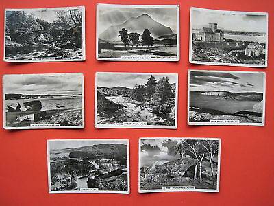 8 VINTAGE Senior Service cigarette cards from the BEAUTIFUL SCOTLAND set