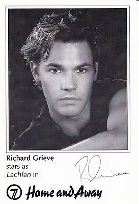 Home And Away Neighbours Richard Grieve As Lachlan Signed Fan Card