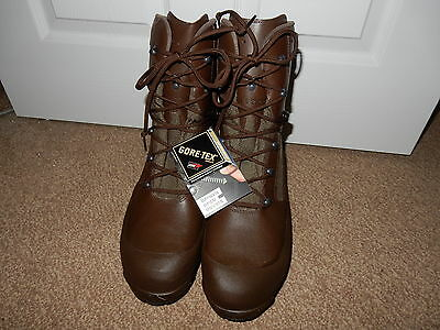 Genuine British Haix High Liability Male Brown Combat Boot Size 10 NEW
