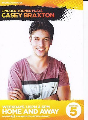 Home And Away Tv Soap Lincoln Younes As Casey Braxton Channel 5 Fan Card