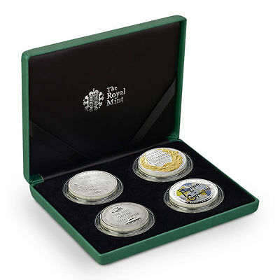 Royal Mint 2015 Churchill Quotation Alderney 4 Coin Silver Proof Set - WCQ15SS