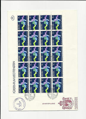 Trade Price Stamps Liechtenstein Full Stamp Sheets On Covers