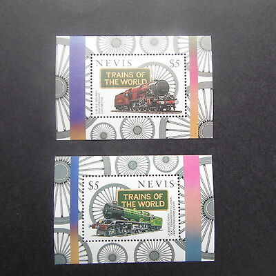 Nevis 1997 Trains of the  World  2 m/s  mnh.