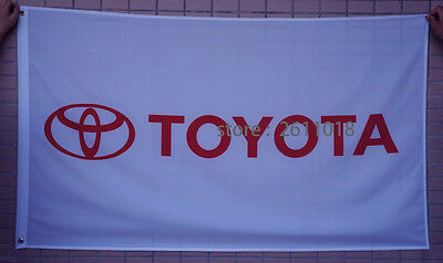 207 new Toyota Flag car racing flag banner flags white 3x5FT free shipping