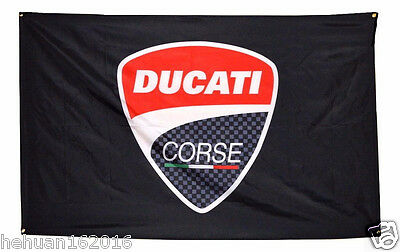NEW Ducati Flag black car racing flag banner 3x5FT free shipping  motorcycle