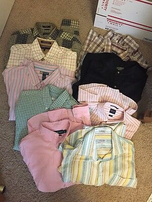 Lot Of 10 Men's Shirts Size Large Nautical Old Navy Abercrombie Different Brands
