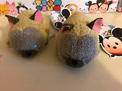 NEW DISNEY Store Genuine Tsum Tsum Duo SI AND AM SIAMESE CATS JAPAN Tsums