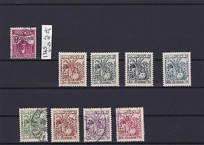 Tunisia Postage Dues 1957 Unmounted Mint And Used Stamps   Ref R1130