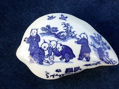"""WOW"" Blue & White Oriental / Japanese / Chinese ""EROTIC"" Box Signed to the base"