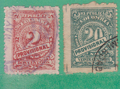 Colombia 1920 2 Stamps Used