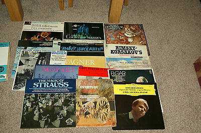 Job lot of 23 Classical LP's Wagner,Brahms,Grieg,Strauss etc all EX