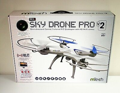 New - Sky Drone Pro V2 Omni-directional R/C Quadcopter with HD Wi-Fi camera