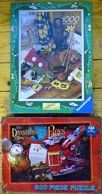 Ravensburger Golfing Memories and Dangerous Book for Boys 1000/ 500 piece puzzle