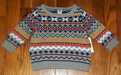 NEW OLD NAVY WARM PULLOVER KNIT SWEATER Argyle/Diamond PRINT SIZE 0-3 MONTHS
