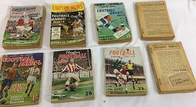 Vintage Football Annuals X 8