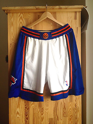 Authentic Puma New York Knicks Game Shorts L XL 36 Sprewell Ewing Houston Camby