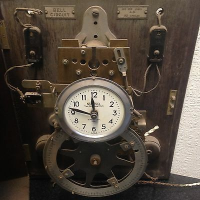 National Time Recorder Vintage Clock