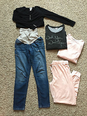 Maternity Lot of Jeans + Tops, Pea In The Pod Jessica Simpson Motherhood Topshop