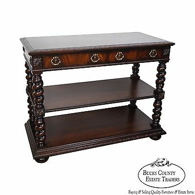 Councill Flame Mahogany Renaissance Style 2 Drawer Server