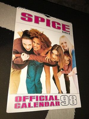 Spice Girls Official Calendar 1998 - Unused Stored Flat