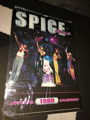 Spice Girls Official Calendar 1999 - Unused Stored Flat