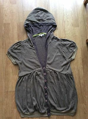 ladies mamas and papas maternity short sleeved hooded cardigan size 16