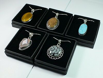 Five New & Boxed Selection Of Pendants With Silver Chains (lot 5)