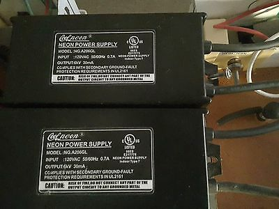 Cool Neon Power Supply NG.A206GL Dual Transformers
