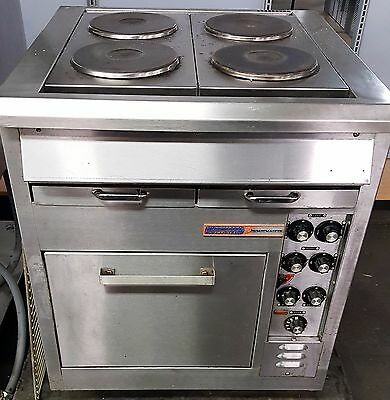 Hussmann Toastmaster Commercial Electric Range Oven with 4 French Plates