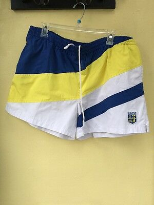 XL * Vintage 80s 3 tone LAGUNA shorts shorts / swim trunks