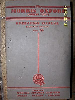 "Morris Oxford (""MO"") Operation Manual 1954"
