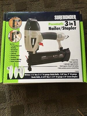 New Home Tool Durable Pneumatic 3 in 1 Stapler Finishing Brad Nailer Tool