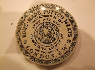 Army and Navy Co op Ltd London Pot Lid