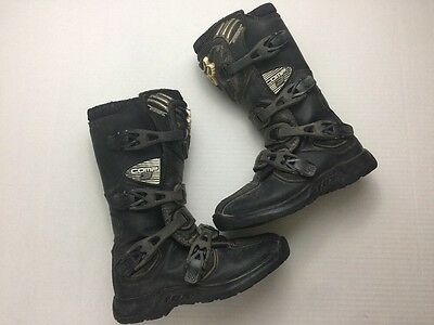 Fox Comp 3 Youth Kids  Motocross Boots Size 5Y